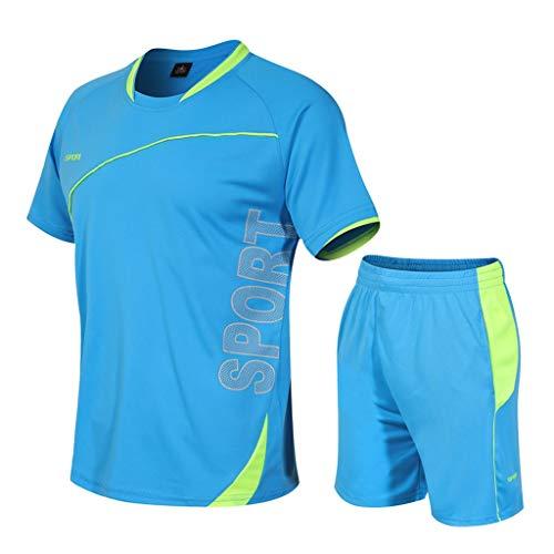 Yue668 - Disfraz de fitness para hombre, informal, de secado rápido, elástico, de manga corta