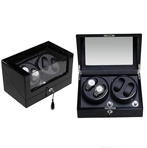 Caja de reloj mecánico reloj automático Shaker Winding Box Caja de almacenamiento Medidor de giro Reloj oscilación Caja de reloj Swing Box-D