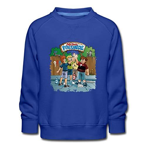 Spreadshirt Die DREI Fragezeichen Kids - Meine Freunde Kinder Premium Pullover, 134-146, Royalblau