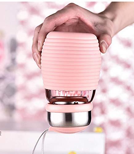 Weibliche koreanische tragbare Glasschale frisches kleines feenhaftes nettes einfaches rotes Netto-Cup-Pinguin-Cup mit großem Bauch