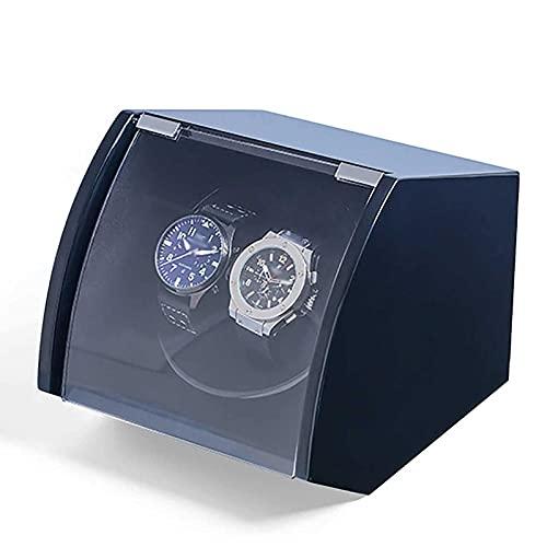 Sunmong Enrollador automático de Reloj, enrollador de Madera para Relojes automáticos, Vitrina de Reloj con Suministro de Motor silencioso, Almohada de Felpa Flexible para Relojes de Dama y Hombre