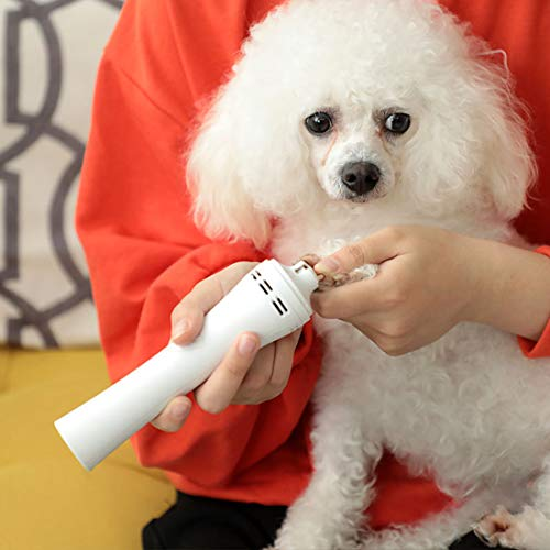 Dog Nail Grinder Upgraded, Cordless 2 in 1 Dog Nail Polisher with Dust Vacuum Cleaner, Professional 3 Speed Electric Dog Nail Clippers, USB Rechargeable Painless Pet Paws Nail Trimmer
