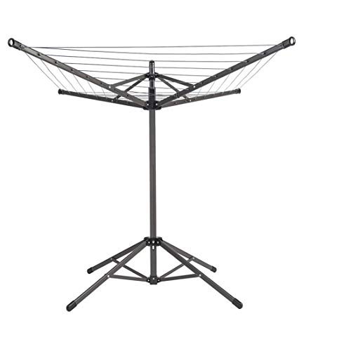 Drying Natural Foldable Umbrella Drying Rack Metal Portable Clothes Dryer Clothesline for Laundry 4 Arm 32 Lines 65ft. for Indoor Outdoor