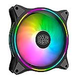 Cooler Master MasterFan MF140 Halo Duo-Ring Addressable RGB Lighting 140mm Fan, Absorbing Rubber...