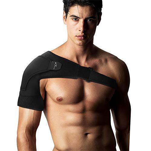 Shoulder Stability Support Brace, Shoulder Cuff With Rapid Pain Relief for Bursitis, Tendonitis, Torn Rotator Cuff Surgery, AC Joint Dislocation, Men & Women Shoulder Compression Sleeve