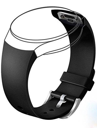 Nueva correa de repuesto compatible con Samsung Galaxy Gear S2 SM-R720 Smart Watch (no compatible con Gear S2 Classic SM-R732 y Gear S2 3G SM-R730) (Negro)
