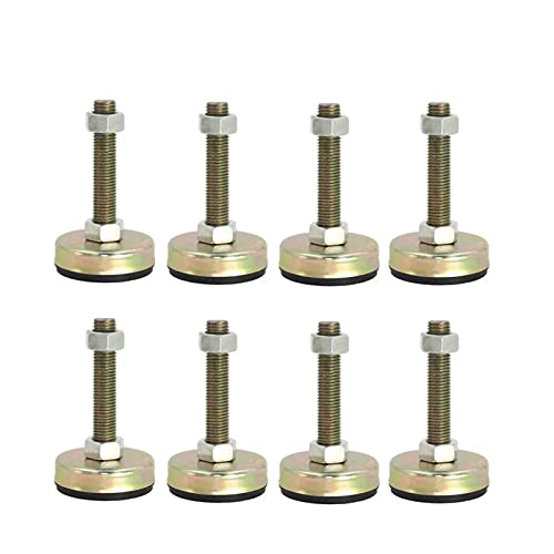M8, M10, M12, Draadverstelbare beenstallen, ijzer verzinkte anti-vibratie zelfnivellerende voeten-basediameter 1,7 inch…