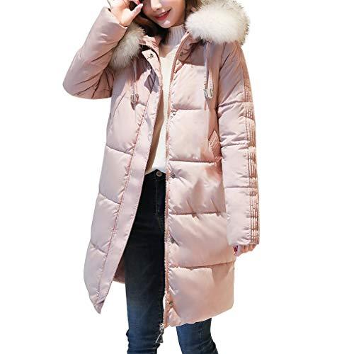 Damen Eleganter Mantel mit Plüsch Kapuze Slim Fit Langer Schnitt Mehrfach Einfarbig Fashion Granny Jacke Langarm Warm bleiben Mantel Jacke Mantel