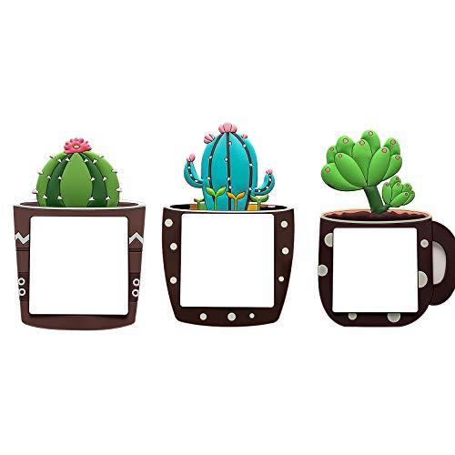 YHNJI Lichtschalter-Aufkleber, leuchtend, Kaktus-Lichtschalter, leuchtet im Dunkeln, Wandsticker für Zuhause, Raumdekoration, 3 Stück