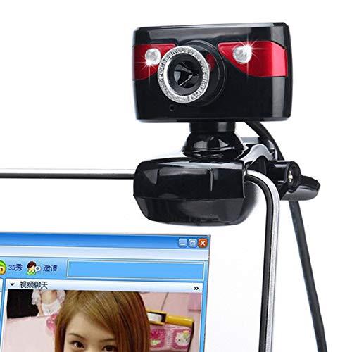DERCLIVE USB 2. 0 480P PC Webcam Computerkamera Eingebautes Mikrofon für Videokonferenzen Und Videoanrufe