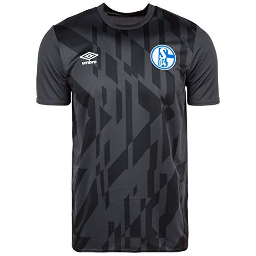 UMBRO FC Schalke 04 Warm Up Trainingsshirt Herren anthrazit/schwarz, 3XL
