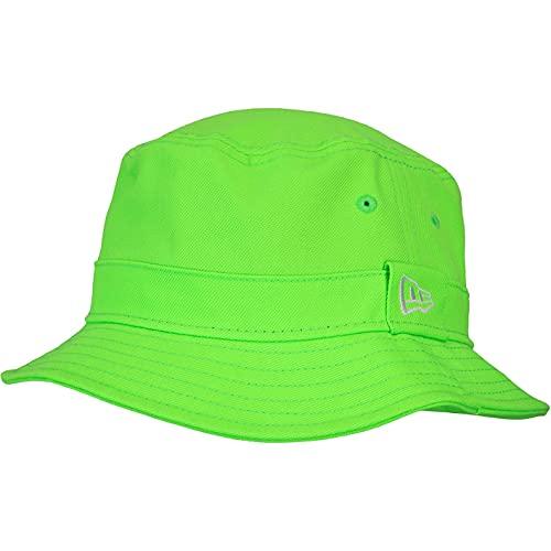 New Era Essential Bucket - Sombrero de pescador verde neón L