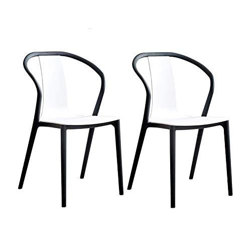 HFJKD Stühle Moderne Freizeit Einfachen Haushalt Plastic Dining Chair Adult Chair Back Pack hochwertigen dicken PP-Material Gastronomiebedarf