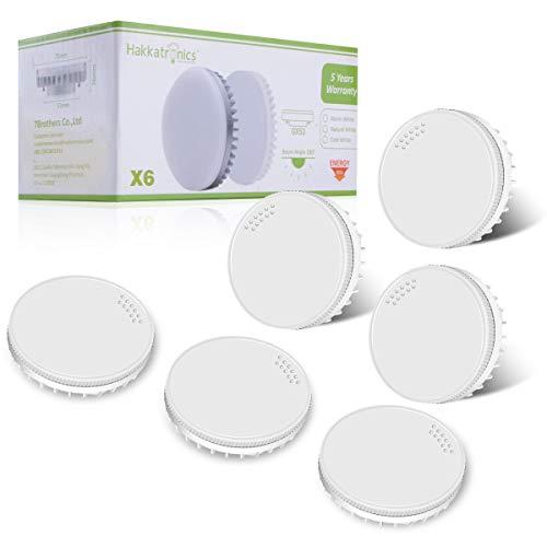 (6er Paket) 8W GX53 LED Lampe, Hakkatronics 8W GX53 Leuchtmittel, 3000K Warmweiß, CRI 85, 750lm(75w Halogenlampen Entsprechen)GX53 LED Glühlampe in Küche, im Flur, Treppenhaus eingebaut werden können