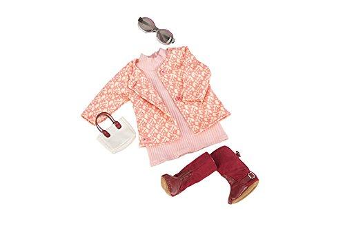 Our Generation BD60020Z - OG - Strickkleid mit Mantel und Handtasche