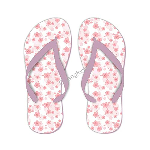 Sakura Flowers - Sandalias unisex con diseño floral para chanclas, sandalias bonitas para el hogar, baño, fiesta