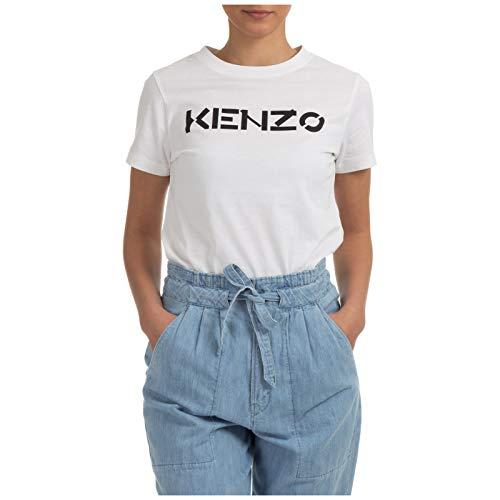 Camiseta Blanca de Mujer con Logo Kenzo (S)