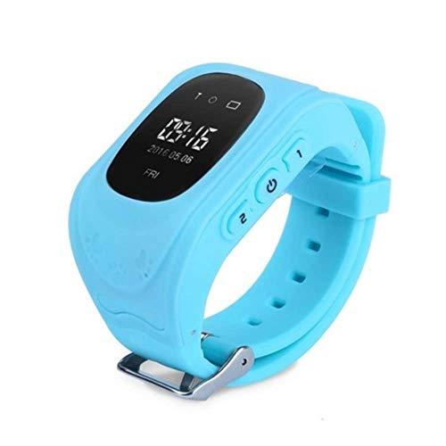 NBSXR Kinderen Smartwatch, GPS Tracker Smart Horloge Stappenteller, SOS Oproep Anti-Verloren Alarm Afstandsbediening, voor Meisjes Kinderen Boy, Waterdichte Anti-val