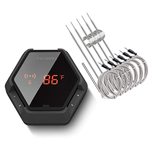 Inkbird Grill Bluetooth BBQ Thermometer Wireless IBT-6XS, 6 Probes Digital Smoker Grill Thermometer...