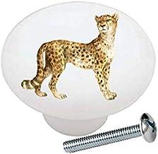Cheetah from The Wild Africa Series African Safari Wildlife Animals - Decorative Ceramic Dresser Drawer Pulls Cabinet Cupb...