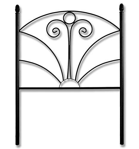 Cabecero de forja Fuente - Negro, Cabecero para colchón de 120 cm.