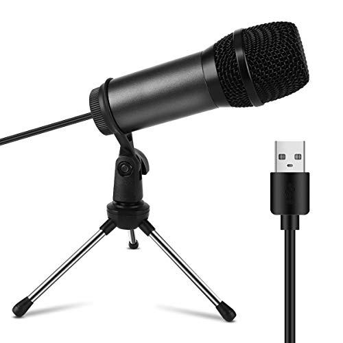 USB Microphone,DUTERID Condenser Microphones Recording for Computer PC Mac & Windows,Professional Plug, Play Studio Microphone for Gaming, Podcast,Chatting, YouTube Videos,Voice Overs and Streaming