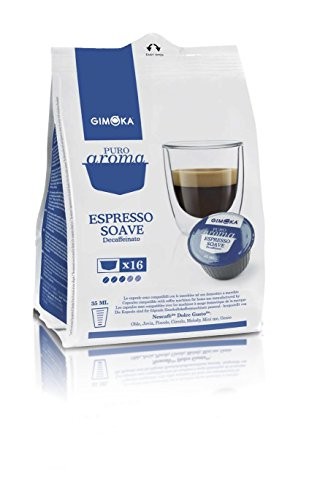 Gimoka Capsule Compatibili Nescafe Dolce Gusto Gimoka Soave Decaffeinato Dek - 160 Cialde