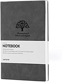 Graph Paper Notebook - Lemome Premium Thick Paper Soft Suade Cover Grid Paper Notebook - A5 (5.7 x 8.25 In)