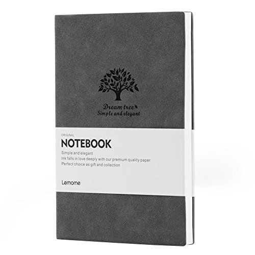 Taccuino Righe/Journal - Notebook Executive Soft Feel Rivestito con Carta Spessa e Marker Ribbon A5, Lemome