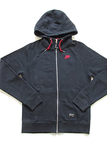 Nike Sportswear NSW England Football Hoodie 598691 417 Full Zip Cardigan Jacke, 598691 417, blau, m