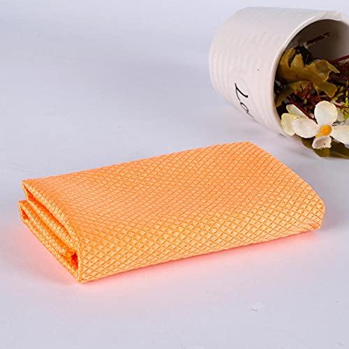 Paño De Limpieza Toalla De Limpieza De Microfibra Suave Paño De Limpieza De Cocina De Vidrio Absorbible Toallitas Para Mesa Ventana Coche Trapo De Toalla Para Platos Hogar Orange 3Pcs