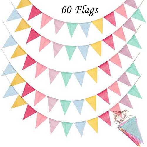 5 unidades de banderines banderines, banderines, guirnaldas para exterior, decoración para bodas, fiestas, Navidad, cumpleaños, fiestas de bebé shower, Navidad