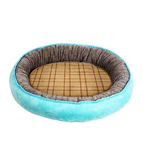 TAIYUAN Cuccia Pet Lettino Rotondo per Animali Domestici per Cani Cat Kennel Morbido Lavabile Lavabile Sleeping Cushion Traspirante Indoor Comfy Mat Pad Caldo Pet Bed Cat Sofa Fornies Dormire