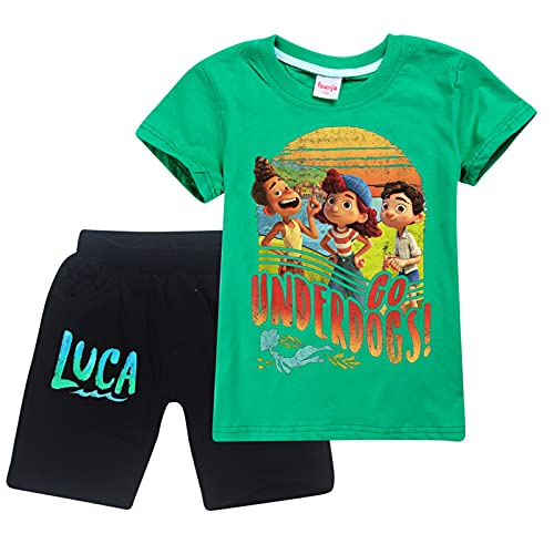 Luca - Pijama de manga corta para niños y niñas (algodón, 2 piezas), 1197-14, 2 Años
