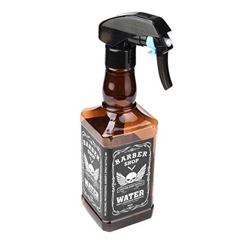 Hair Care,Baomabao 500ML Hairdressing Spray Bottle Salon Barber Hair Tools Water Sprayer (Brown)
