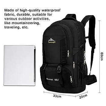 CX&LL Sac à dos de randonnée, 60 l, pour homme, femme, sac à dos de randonnée, sac à dos de randonnée, extérieur, multifonction, sac à dos pour alpinisme et sports de voyage