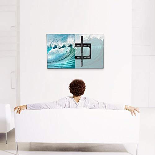 Haofy Soporte de Montaje en Pared para TV de Perfil bajo, fácil de Instalar, Soporte Universal de Acero para Montaje en TV LCD LED para Pantalla 26 27 32 37 40 42 46 47 50 55'