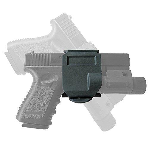 Worldshopping4U táctica nueva gira 360Glock Clip/MOLLE cinturón Holster para Glock 17192223, negro