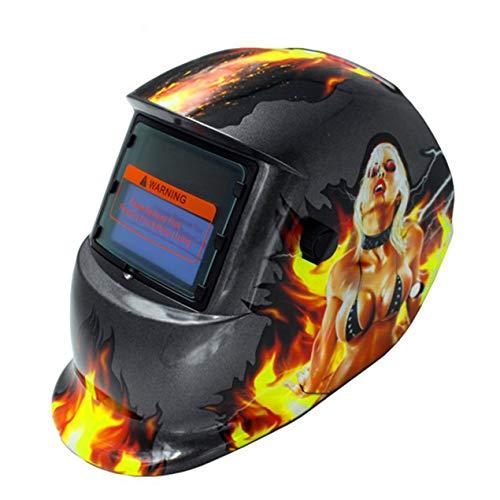 DBSUFV Máscara de Soldadura fotoeléctrica Variable automática Soldador Soldadura Soldadura Soldadura por Arco de argón Pantalla Protectora de protección Laboral