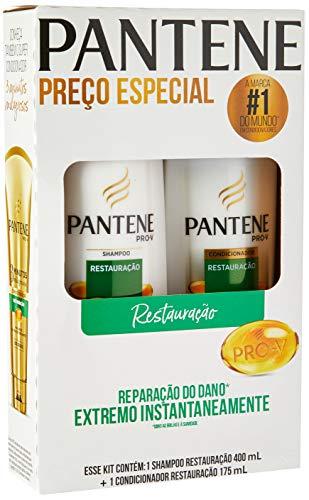 Shampoo Pantene 400ml + Condicionador 175ml Pantene Restauração