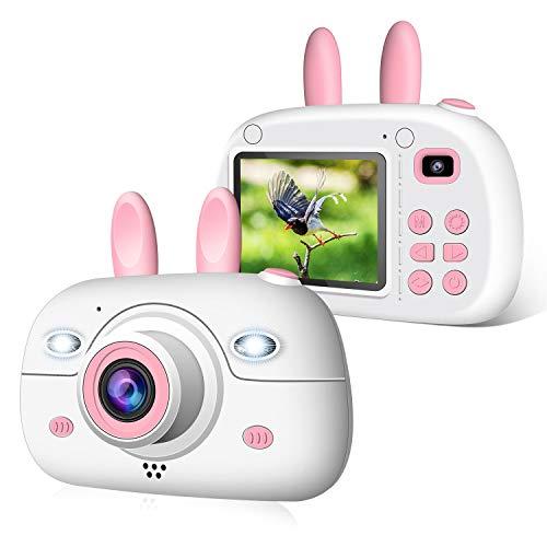 """2NLF Cámara para Niños 1080P 2.4"""" LCD Cámara de Fotos Digital para Niños con Tarjeta de Memoria Micro TF 16GB Cámara Infantil Regalos Juguete para 3 a 12 Años Niños y Niñas -Rosa"""