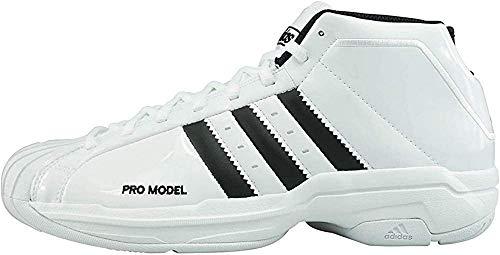 Adidas Pro Model 2G, Zapatillas Baloncesto Hombre, Blanco FTWR White Core Black FTWR White, 46 2/3 EU