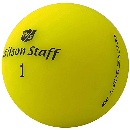 lbc-sports 24 Wilson Staff Dx2 / Duo Soft Optix Golfbälle - AAAAA - PremiumSelection - Gelb - Mattes Finish - Lakeballs - gebrauchte Golfbälle - im Netzbeutel