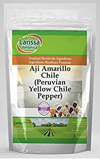 Aji Amarillo Chile (Peruvian Yellow Chile Pepper) (4 oz, ZIN: 526692) - 2 Pack