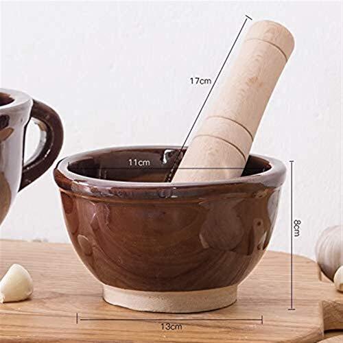 HSJ Molinillo de cerámica doméstico Pasta de arroz Antiguo