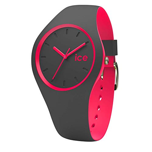Ice-Watch - ICE duo Anthracite Pink - Women's wristwatch with silicon strap - 001501 (Medium)