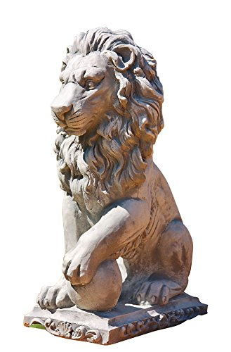 Löwe Rechts, Skulptur aus Steinguss