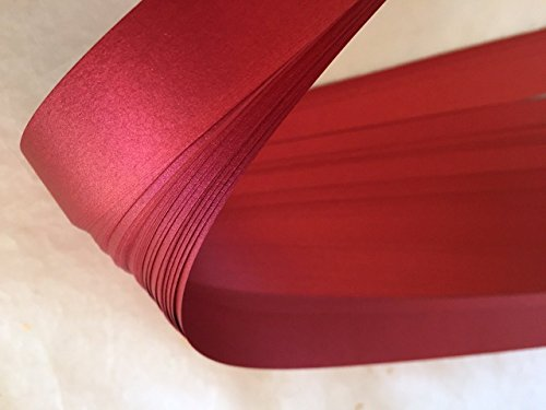 German Moravian Star Strip Weaving Papers, 50 Pack, Shimmer Red Satin (3/4 inch)
