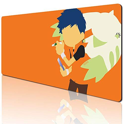 Digimon Adventure 763kdo Mauspad, rutschfest, Gummi, für den Sport, übergroß, groß, für Gaming & Büro, Schreibtischunterlage für Laptop & PC (90 x 40 cm)