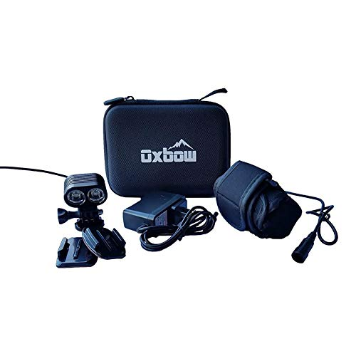 Oxbow Gear Voyager Dirt Bike Helmet Light Kit with Rechargeable Battery, Compatible with GoPro Mounts, 2100 Lumens, 3 Hours on High Beam